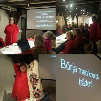 föreläsning och kurs på Form Design Center arrangerat av Staden Malmö hemslöjdsförening, foto Hanna Runnqvist