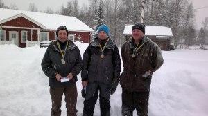 Här är Lars t v. tillsammans med övriga medaljörer Björn Hols och Per Gref på DM.