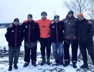 2018-års landslag från vänster: Arto Jumisko, Jimmi Bornström, Andreas Wetterhall, Marino Sanvincenti, Johan Axelsson, Peter Eriksson.