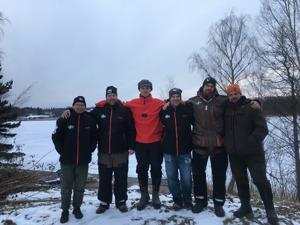 2018-års landslag från vänster: Arto Jumisko (Södertälje SFK), Jimmi Bornström (Mälardalens TF), Andreas Wetterhall (Enskede SFK), Marino Sanvincenti (Alingsås SFF), Johan Axelsson (Trosa AFK) och Pet
