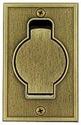 Standard floor, antique brass