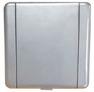 ES. silver grey metal