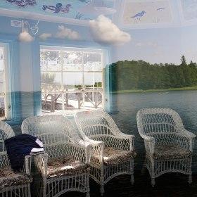 Vår Gårds vackra lusthus kan du avnjuta när du är hos oss på Thann Sanctuary Spa i Nacka/Saltsjöbaden - Stockholm