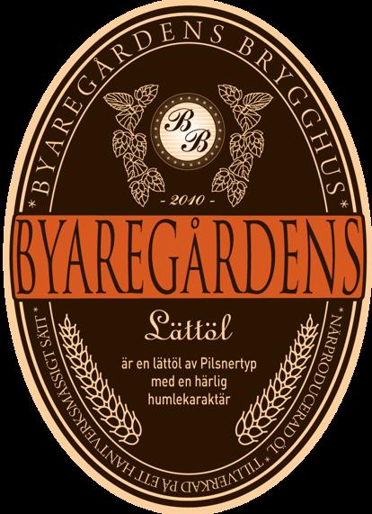 Halländskt lättöl 2,1 % Byaregårdens lättöl från Byaregårdens Brygghus hantverksbryggeri i Halland