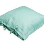 Stonewashed Linen Pillow Ocean Green