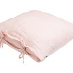 Stonewashed Linen Pillow Pink Petal