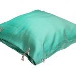 Thai Silk Pillow Ocean Green