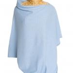 Cashmere Poncho Light Blue
