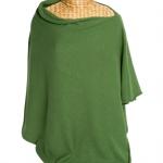 Cashmere Poncho Green