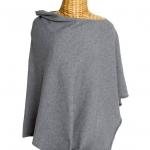 Cashmere Poncho Light Grey