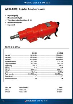 Kärnborrmaskin WEKA DK52