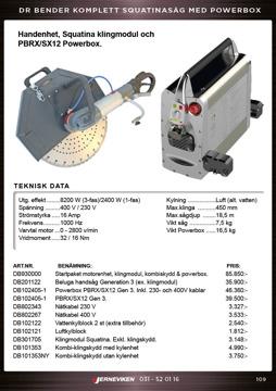 Dr Bender Squatina handkap/handsåg för betong