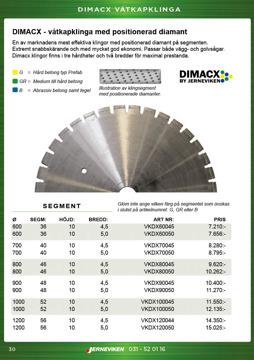 Dimacx standard betongklinga / diamantklinga