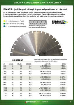 Dimacx ljuddämpad betongklinga / diamantklinga