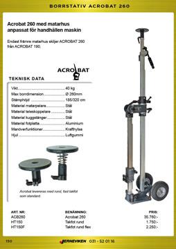 Acrobat borrstativ 260