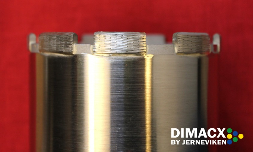 Dimacx diamantborr med positionerad diamant