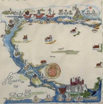 Karta över Nordre Älv och Kungälvsbygdens kyrkor under medeltiden