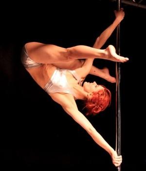 Bild: Martina under sitt SM nummer 2013, fotad av Poledance.nu