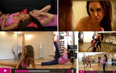 Bella & Tyra Show. Kenza & Tyra testar poledance!