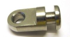 20mm linkrok. Mellankoppling mellan kroken på simlinan och ett nyckelhålsfäste. Finns också i en gammal modell som då har en diameter på 25 mm.