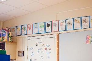 Det här klassrummet har jag gått 1:an och 2:an i. Märkligt!