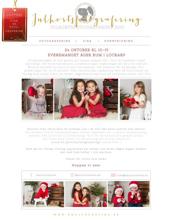 Julkortsfotografering Nässjö Jönköping Eksjö