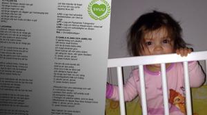 I ett dokument finns socionomernas snapsvisor där de skämtar om att ta människors barn ifrån dem. Bilden är ett montage. Foto: Chang Frick / Nyheter Idag