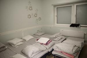 Tomma platser på ett transitboende på Södermalm i Stockholm. Foto: Pi Frisk