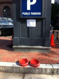 Thoughtful water pit stop for dogs, in Boston, USA.
