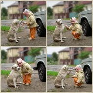 It's great for children to grow up with animals, in so many different ways! (not my photos)
