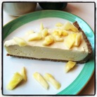 Raw pineapple cheesecake. At Rockin' Raw on Sullivan St.