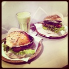 Amazing vegan burgers at Krowarzywa.