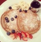 Vegan pancakes. Brunch at V-note, Upper East side.