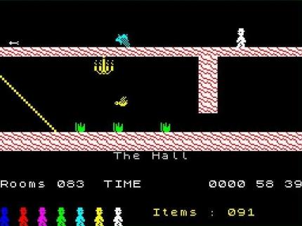 Screenshot from the ZX Spectrum version.
