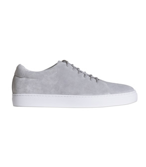 Wallace ljusgrå mocka sneakers
