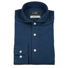 Agnelli Mörkblå Denim Skjorta
