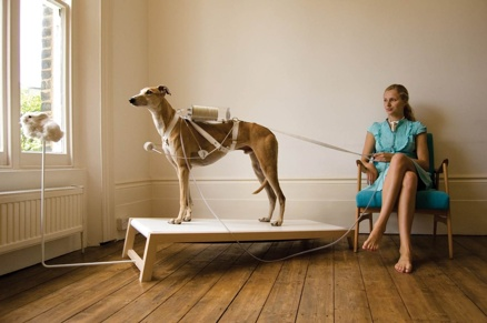 "Photo:  ""Life Support"" (2008) Respiratory Dog Revital Cohen/Tuur Van Balen"