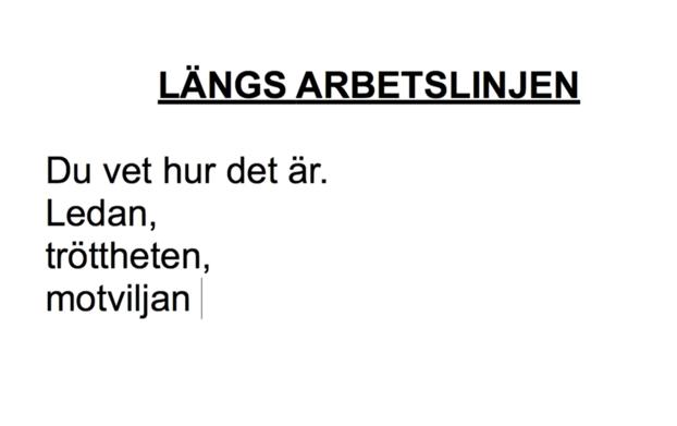 Stills från Johanna Gustavsson, Simone Weil & Angel Hazes verk Ett öppet brev till en arbetarkamrat 1936/2013
