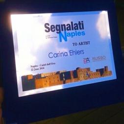 'Naples goes to Segnalati' - Internationellt konstnärspris, Juni 2016