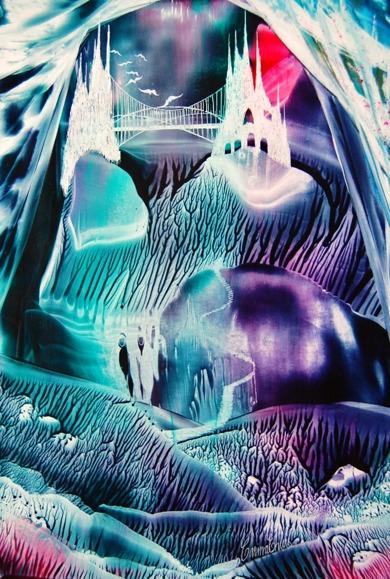 Encaustic Art - bivax, utan damar resin, på papper