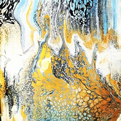 Landscape From Beyond - 50x50 cm - Akryl på kanvas