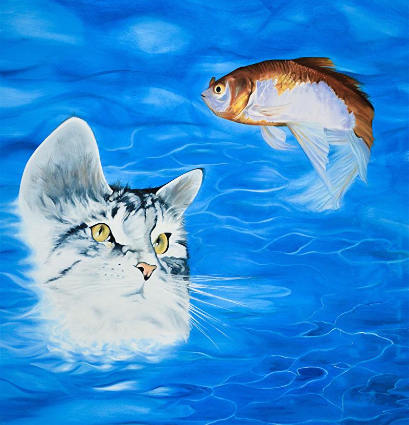Relationer - 55x60x4 cm - Olja på canvas