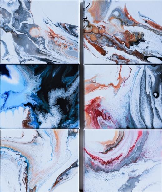 Great Mystery - serie akryler, här i storlekarna 30x24 cm