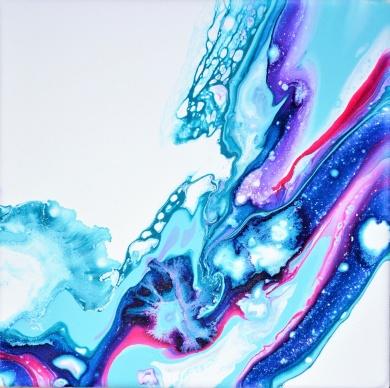 Spirit of Water - 20x20 cm - Akryl på canvas