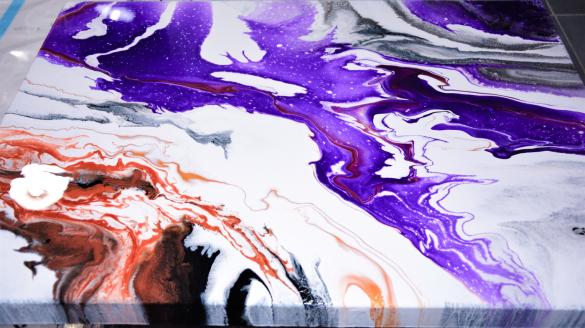 Go Within - Akryl på 3D-canvas . 70x50x3,8 cm