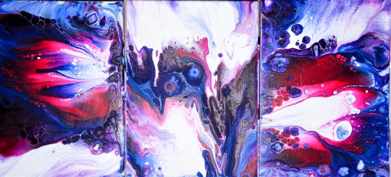 The Violet Flame - 3 st små akryl på pannå