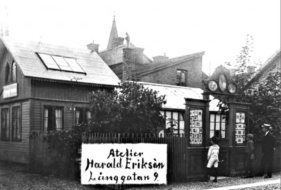 P.A. Erikséns verksamhet övertagen av Harald år 1900. (Skövde Stadsmuseum)