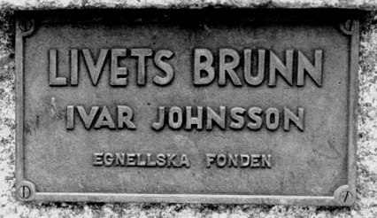 Egnellska fonden har bekostat även Livets brunn i Skövde. Foto Claes Funck, copyright/Skövde Stadsmuseum