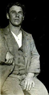 Knut Ohlsson ca 1918, delförstoring av bild från sonsonen Jan Ohlson, 2013.
