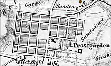 Del av beskattningskartan 1855.